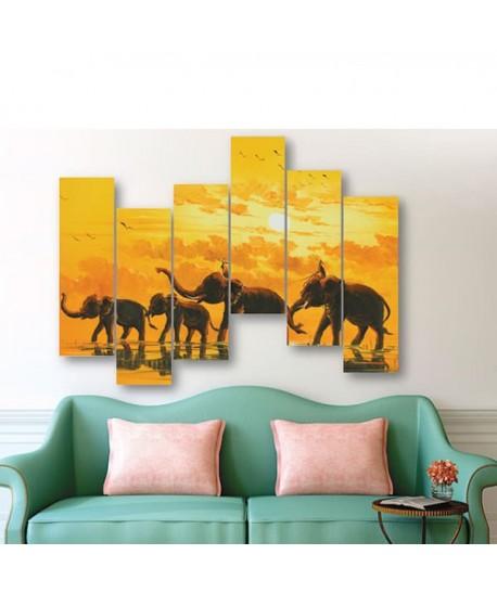 TABLEAU DECORATIF MDF ELEPHANTS
