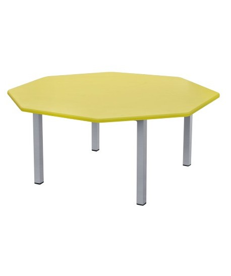 TABLE MATERNELLE HEXA PVC SOCLE EN TUBE CARRE