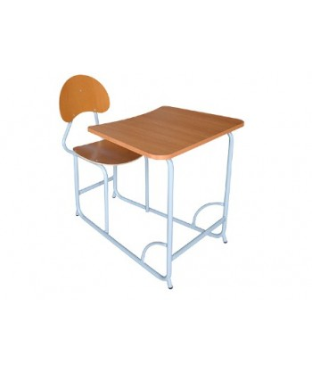 TABLE ECOLIER MONOBLOC UNE PLACE L70XP95XH75 cm