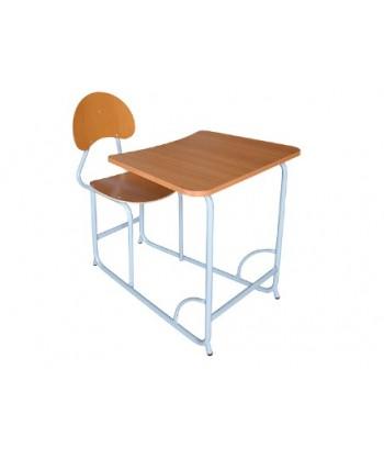TABLE ECOLIER MONOBLOC UNE PLACE L70XP95XH75 cm