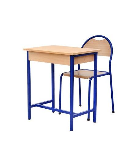 TABLE ECOLIER MONOPLACE AVEC ETAGERE EN BOIS 65X45X75