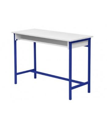 TABLE ECOLIER BIPLACE AVEC ETAGERE EN BOIS 110X45X75