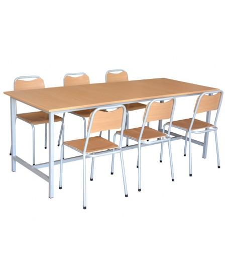 TABLE REFECTOIRE 200x80x75