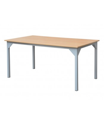 TABLE REFECTOIRE STRUCTURE EN TUBE CARRE 120X80X75 cm