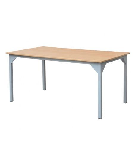 TABLE REFECTOIRE STRUCTURE EN TUBE CARRE 120X80X75 cm