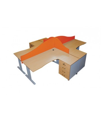 ENSEMBLE BUREAU OPERATEUR 4 PLACES 300X250X75