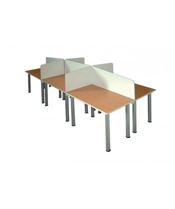 BUREAU CENTRE D'APPEL 6 PLACES PIET METALIQUE 240X120X75