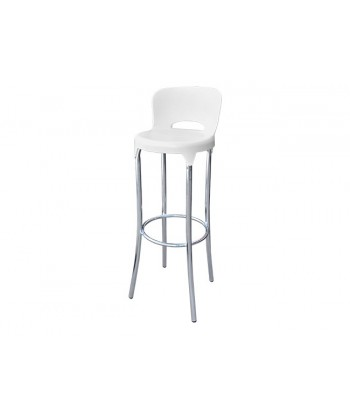 TABOURET DALLAS SOCLE CHROME