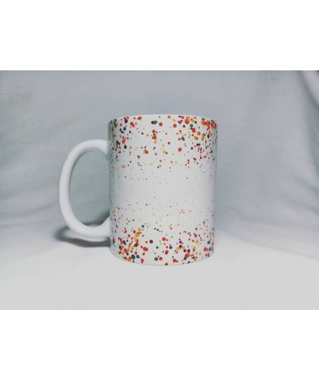 colourful points mug