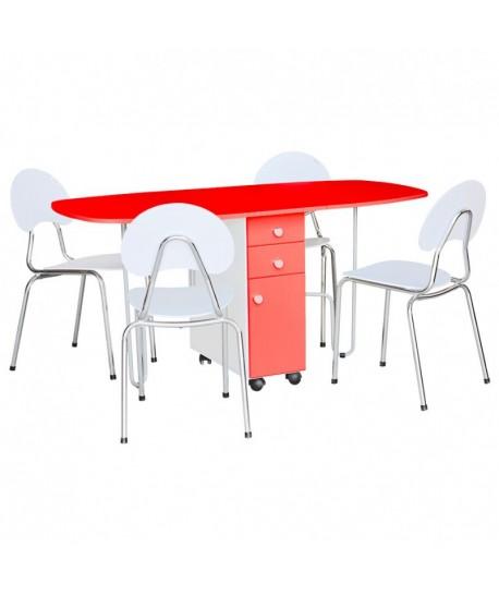 TABLE Rabattable A TIROIR PM EN PVC