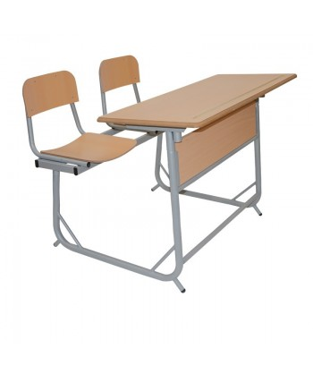 TABLE EDUCATION BIPLACE DEMONTABLE A 2 POSITIONS 120X50cm