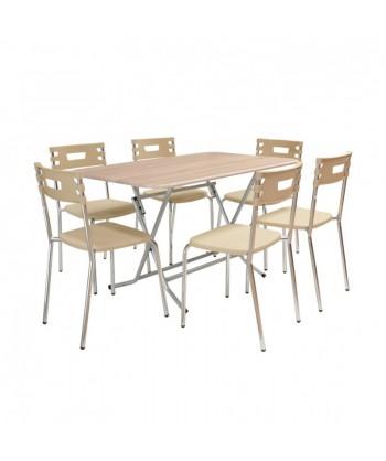 TABLE RECTANGULAIRE PVC 120x80 cm