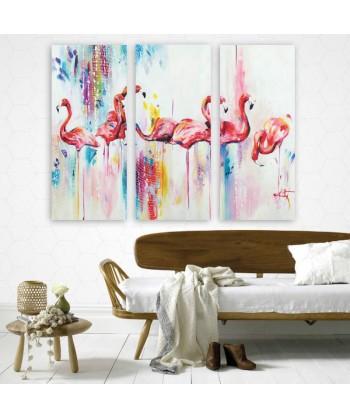 Tableau décoratif Flamant...