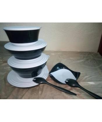 Série Noir et blanc TUPPERWARE